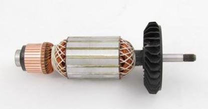 Bild von Anker Rotor Bosch GWS22-180LVI GWS22-230LVI ersetzt original (ekvivalent) Wartungssatz Reparatursatz Service Kit hohe Qualität Fett und Kohlebürsten GRATIS