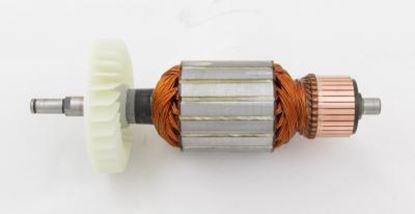 Obrázek kotva rotor Makita 9029 2100W a uhlíky nahradí 516593-2 - armature anker armadura armatura Reparatursatz Wartungssatz service repair kit