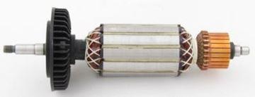 Bild von Anker Rotor Lüfter Metabo W9-125 W9-115 900W ersetzt original (ekvivalent) Wartungssatz Reparatursatz Service Kit hohe Qualität Fett und Kohlebürsten GRATIS