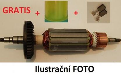 Image de ancre rotor PREMIUM Makita 5143 R 5143R remplacer l'origine / kit de service de maintenance de réparation haute qualité / balais de charbon et graisse gratuit