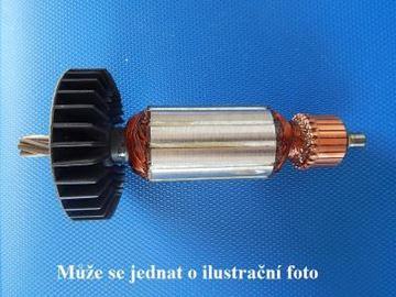 Obrázek Makita kotva HM 0810 HM0810 T B rotor nahradí originál PREM uhlíky mazivo ventilar GRATIS - armature anker armadura armatura Reparatursatz Wartungssatz service repair kit