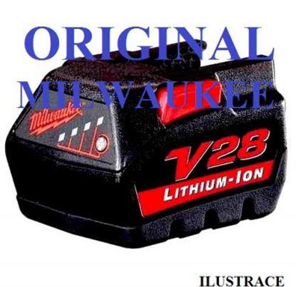 Obrázek Milwaukee akumulátor baterie aku V 28 B Li 3,0 Ah plná záruka