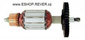 Obrázek rotor pila Black Decker BD KS805 KS 805 800W nahradí originál kotva uhlíky mazivo GRATIS - armature anker armadura armatura Reparatursatz Wartungssatz service repair kit