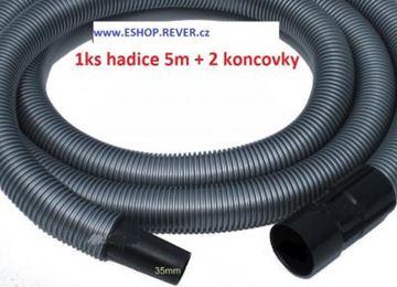 Obrázek saci hadice do Bosch GAS 12-30 GAS 12-50 délka hadice je 5m a průměr 35mm včetně koncovek - ze strany vysavače je bajonet u