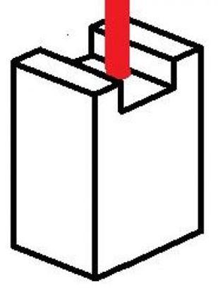Imagen de uhlíky 3,5x4,5x18,0mm elektromotor 12V 24 aku ventilátor stěrače klima topení vrata carbon