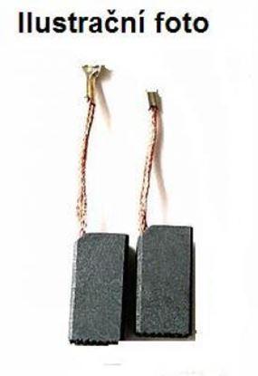 Image de uhlíky do AEG WS230 úhlová bruska uhlíkové kartáče WSB WSA WSBA TSDA 6 x 12,4 a mazivo