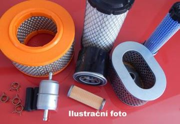 Obrázek vzduchový filtr pro Yanmar minibagr YB 101 motor Yanmar L90SEB