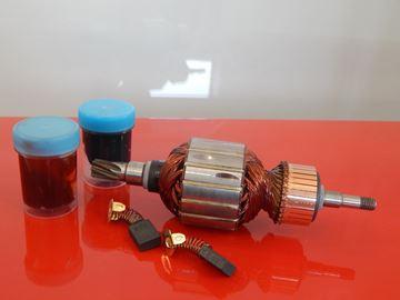 Obrázek Makita rotor kotva HR 4500 C HR4500C a uhlíky mazivo gratis nahradí originál 516843-5 - armature anker armadura armatura Reparatursatz Wartungssatz service repair kit