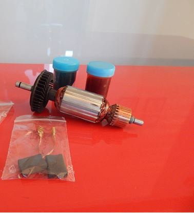 Picture of armature rotor Bosch GBH4DSC GBH4DFE GBH 4 4-top replace origin 1614010128 / maintenance repair service kit high quality / carbon brushes and grease FREE