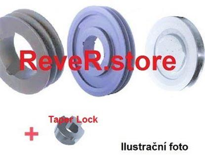 Imagen de klínová řemenice SPA 100 x2 včetně upínacího pouzdra Taper Lock 1610