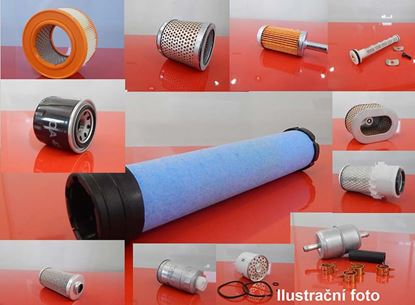 Obrázek vzduchový filtr do Kobelco K 904D motor Isuzu 4BD1 filter filtre