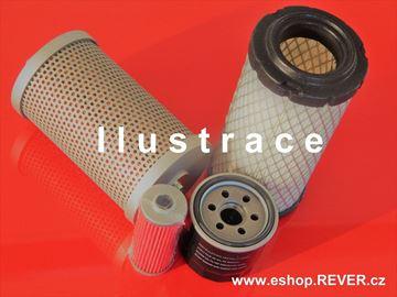 Obrázek kompletní set filtrů pro Yanmar minibagr YB201 YB 201 YB-201 odlučovač vody palivový olejový motorový vzduchový hydraulický hydraulický-sací s motorem Yanmar