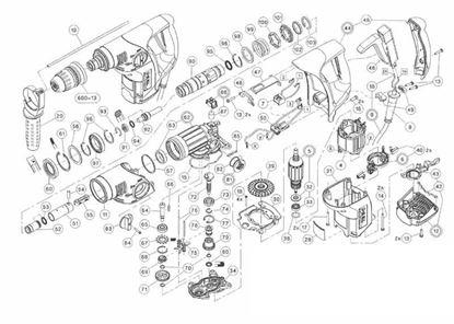Obrázek sada pro Hilti TE6C TE6C TE 6 C TE6 1x těsnící kroužek válce 343514 poz. 95 1x kovová dorazová podložka 346142 poz. 91 1x pojistná segrovka kroužek 76487 poz. 93