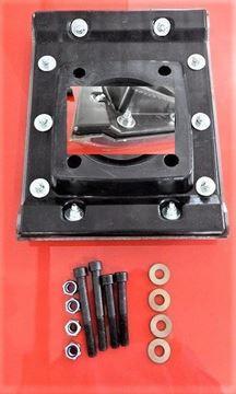 Obrázek patka hutnící pro Weber SRV SRX vibrační pěch pěchy a číslo k porovnání je 25488722 deska nástavec - náhradní + sada šroubů GRATIS + ocelové bočnice pro snížení opotřebení gumy