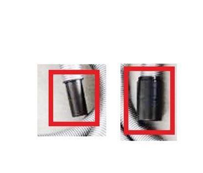 Obrázek koncovky 2ks (sada) pro hadici zakoupenou u nás do Hilti vysavače VCD50 VCD 50 náhradní objed. číslo 00022 + 00024