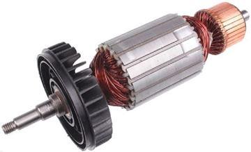 Bild von Anker Rotor Lüfter Makita GA9040 GA 9040 ersetzt original (ekvivalent) Wartungssatz Reparatursatz Service Kit hohe Qualität Fett und Kohlebürsten GRATIS