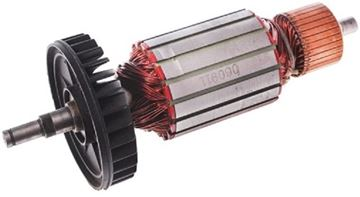 Obrázek kotva rotor ventilátor pro brusku Makita 9059 9057 + uhlíky převodové mazivo GRATIS - armature anker armadura armatura Reparatursatz Wartungssatz service repair kit