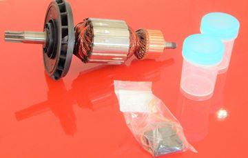 Image de ancre rotor ventilateur Bosch GSH 5 E GSH5E remplacer l'origine 1614011098 / kit de service de maintenance de réparation haute qualité / balais de charbon et graisse gratuit