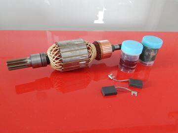 Imagen de inducido / rotor para Bosch GSH 27 GSH27 reemplazar 1614011091 - escobillas de carbono y sin grasa - kit de reparación