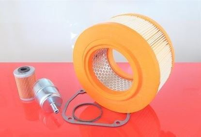 Picture of filter set for Bomag BPR 60/52 D-2 BPR60/52 D2 with Hatz engine - fuel air oil filter and gasket - OEM quality maintanance service kit replace origin part no.