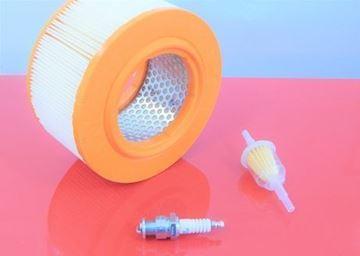 Obrázek sada filtrů pro Bomag BT65/4 BT 65/4 s Honda motorem - palivový potrubní a vzduchový filtr zapalovací svíčka - OEM kvalita servisní nahradí originál SET1 filter filtre