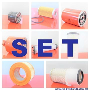 Obrázek servisní sada filtrů filtry pro Case CK 32 s motorem Kubota Set1 filter filtre