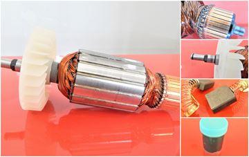 Obrázek kotva rotor ventilátor pro brusku Makita 9049 9047 1990 + uhlíky převodové mazivo GRATIS - armature anker armadura armatura Reparatursatz Wartungssatz service repair kit