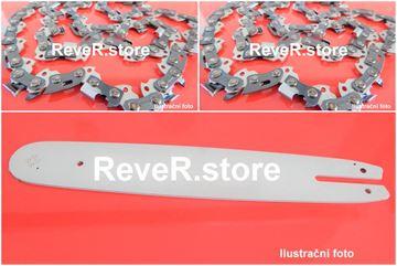 """Obrázek 38cm lišta sada drive + 2ks řetěz s kulatým zubem 3/8"""" 56TG 1,5mm pro Husqvarna E1400"""