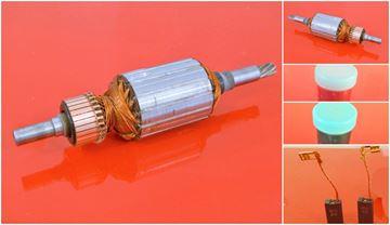 Obrázek kotva rotor WACKER EHB 7 EHB7 nahradí originál Wacker Neuson a uhlíky - armature anker armadura armatura Reparatursatz Wartungssatz service repair kit