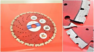 Picture of diamond cutting universal SUPER disc 230 x 22.23 mm Mi850 cuts all building materials and iron