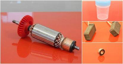 Bild von Anker Rotor Bosch GWS 12-125 CI CIE CIP CIEP CIX CIPX CIEX ersetzt original (ekvivalent) Wartungssatz Reparatursatz Service Kit hohe Qualität Fett und Kohlebürsten GRATIS