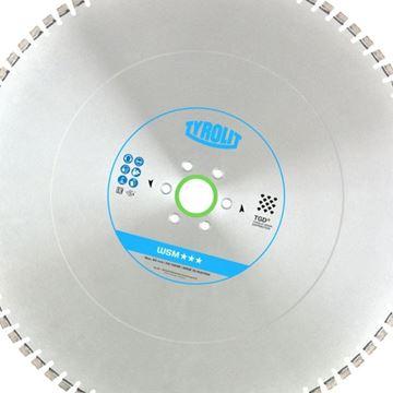 Obrázek Tyrolit diamantový kotouč pro stěnovou pilu 800 x 4,4 x 60 mm WSM Premium *** TGD®-Technology - upínání pro Cedima