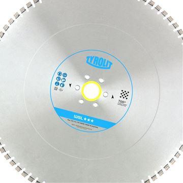 Obrázek Tyrolit diamantový kotouč pro stěnové pily Hydrostress a Tyrolit 825 x 4,4 x 60 WSL Premium SILENT *** TGD®-Technology 34018176