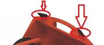 Obrázek klip uzávěr zámek clip 1sada = 2ks pro plastový kufr HILTI DCSE 20 DC-SE 20 DCSE20 Kofferverschluss lock for Hilti box DCSE20 originál suP