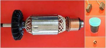 Bild von Anker Rotor Lüfter HILTI DAG 230 DAG230 D ersetzt original (ekvivalent) Wartungssatz Reparatursatz Service Kit hohe Qualität Fett und Kohlebürsten GRATIS