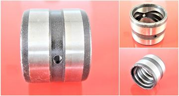 Picture of 35x45x45 mm steel bushing inside with lubrication groove / outside with lubrication groove / 2x lubrication hole