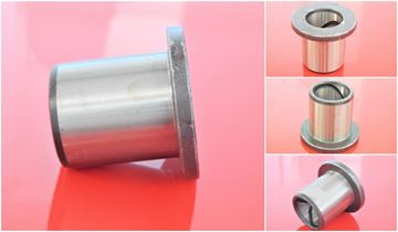 Picture of 100x120x125 / 165x30 mm steel bushing with collar / groove inside