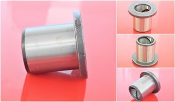 Obrázek 70x80x60 / 90x5 mm ocelové pouzdro s límcem - vnitřní mazací drážka / vnější hladké osazené - 50HRC