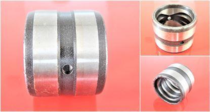 Bild von 110x130x130 mm Stahlbuchse innen Schmiernut / Schmiernut aussen / 2x Schmierloch