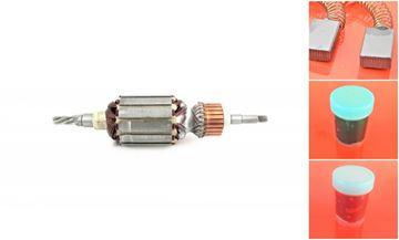 Obrázek Makita kotva HR4000 C HR4040C HR4000 HR4000C rotor nahradí 516328-1 a uhlíky - armature anker armadura armatura Reparatursatz Wartungssatz service repair kit