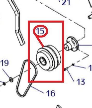 Obrázek kompletní odstředivá spojka sada pro Weber CR8 CR-8 vibrační desku - centrifugal force clutch Fliehkraftkupplung embrayage centrifuge de force embrague de fuerza centrífuga new 021000388 old part. no. 21000006 for Hatz engine ...více