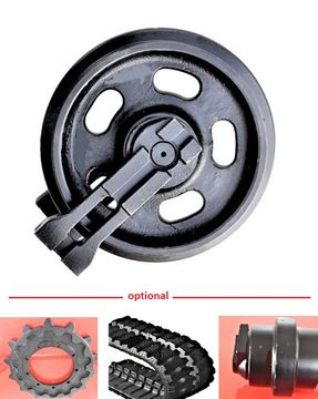 Obrázek vodící rolna napínací kolo idler pro Doosan DX60 ocelové pásy