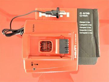 Picture of Hilti charger C4-36 C4/36-AC Lion C 4/36-ACS C4/36-ACS Li-Ion Li - 220-240V 389558 Lithium C 4/36 ACS LI-ION for battery B14/1.6 B14/3.3 B144/2.6 B22/1.6 B22/2.6 B22/3.3 B36/2.4 B36/2.6 B36/3.0 B36/3.3 B36/3.9
