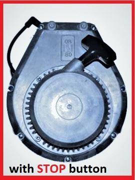Obrázek kompletní náhradní motor WM80 pro Wacker Neuson ze STOP tlačítkem a vč. startéru - pro serie do RV 2011 BS-Y BS45Y BS60Y BS62Y BS65Y serie a pro BS500 BS600 BS700 BS50-2 BS60-2 - nahradí originál číslo k porovnání WM 80 jinak sada obsahuje - válec píst pístní kroužky kliková hřídel klika těsnění starter madlo pružina atd.