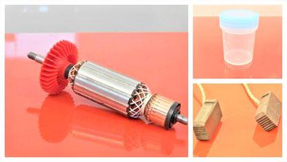 Image de ancre rotor ventilateur Metabo W7-125 remplacer l'origine 310007680 / kit de service de maintenance de réparation haute qualité / balais de charbon et graisse gratuit
