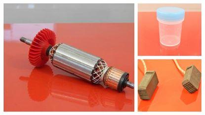 Obrázek PREMIUM kotva rotor do Bosch GWS11-125 GWS 11-125 GWS11/125 CI CIE CIH nahradí originál uhlíky mazivo GRATIS - anker armature armadura armatura Reparatursatz Wartungssatz service repair kit