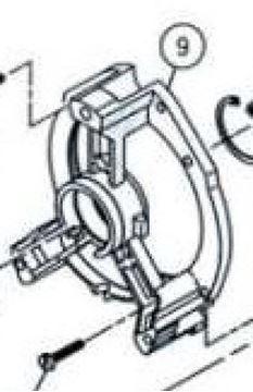Obrázek příruba Hilti DD-160E DD160E originál 208078 position 9 - Lagerschild bearing box