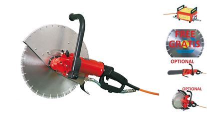 Picture of WEKA Set Anna TS40 Diamond Handsaw for Concrete and Masonry Drive 230V a 400V with converter FU6C cutting depth 165mm + diamond blade FREE