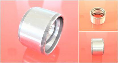 Image de 80x100x100 mm douille en acier à l'intérieur avec rainure de lubrification / extérieur lisse