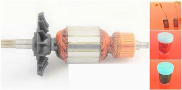 Obrázek kotva rotor ventilator do Bosch GSH 5-38 D 38X GSH 388 GBH 5-38D GBH5-38D GBH538D GSH 500 388X uhlíky mazivo GRATIS - armature anker armadura armatura Reparatursatz Wartungssatz service repair kit